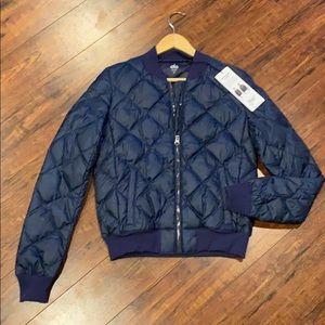 BRAND NEW Alo IDOL Bomber jacket- Navy XS